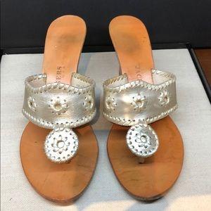 Genuine leather low platform sandals
